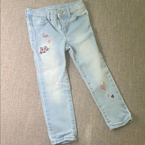Gap Kids Skinny Jeans with Embroidery